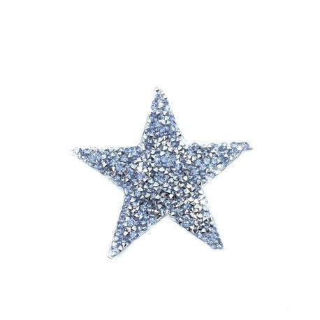 Aplikacja na ubranie z dżetami w kształcie kolorowej gwiazdki, która pięknie się świeci