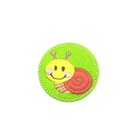 Naszywka do naprasowania dziecięca ślimak w kolorze żółtym i zielonym