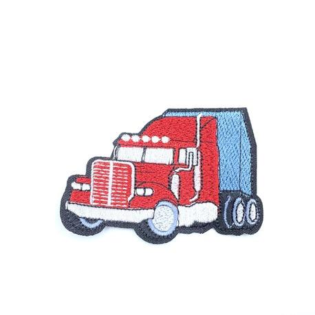 Naszywka dla chłopca czerwona ciężarówka termoprzylepna