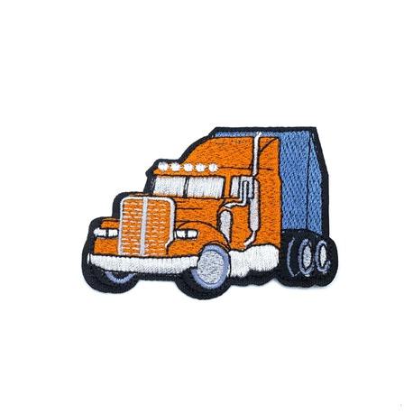 Ciężarówka pomarańczowa termoprzylepna do naprasowania