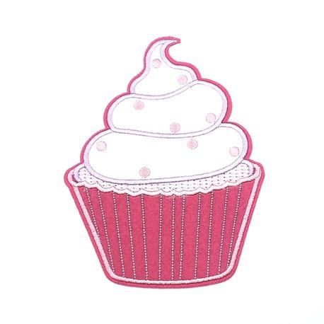 Aplikacja termoprzylepna lody w kolorze białym i różowym