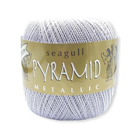 Kordonek Pyramid metallic do szydełkowania eleganckich serwetek - kolor stalowy fiolet