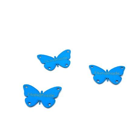 Naszywka motylek niebieski wykonany z ekoskóry, służy do przyszycia jako dekoracja.