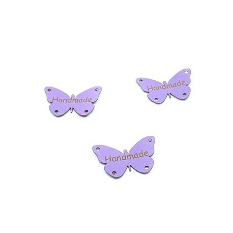 Metka z ekoskóry motyl jasno-fioletowy.