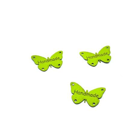 Metka z ekoskóry motyl jasno-zielony.