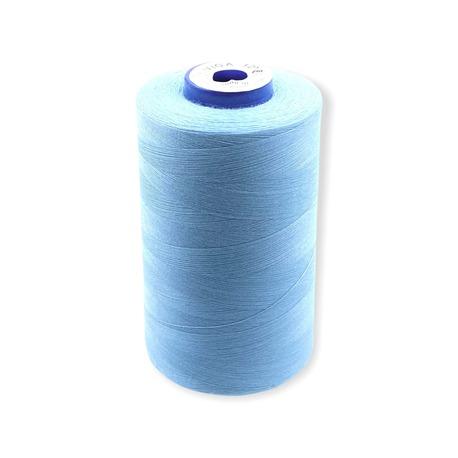 Nici overlockove Viga 120 marki Ariadna. Doskonałe nici odzieżowe do szycia w kolorze jasnym niebieskim.
