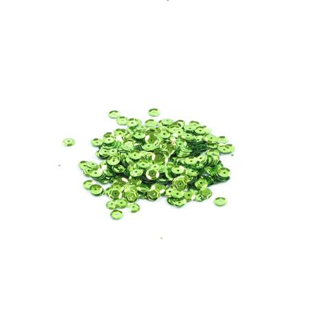 Cekiny łamane 6mm jasna zieleń 4g (1)