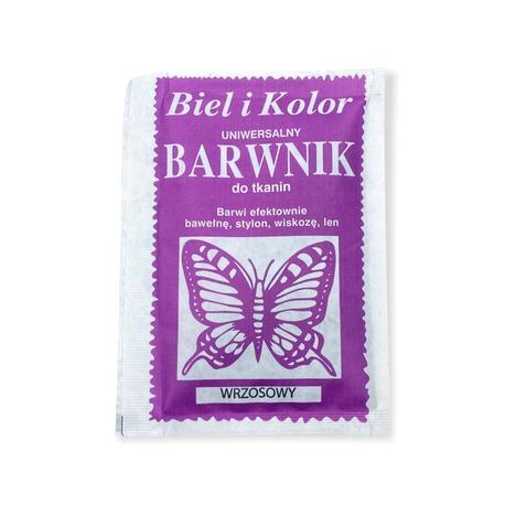 Barwnik do tkanin Biel i kolor w kolorze wrzosowym