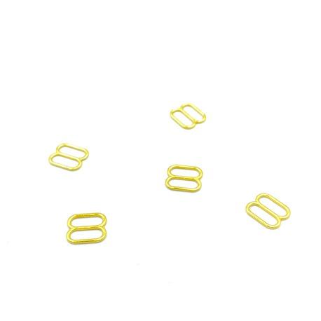 Regulator metalowy złoty do ramiączka o przelotce 8mm