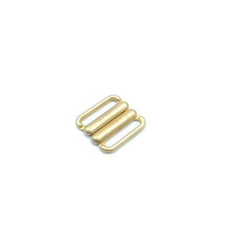 Zapięcie metalowe do strojów kąpielowych w kolorze złotym i otworze 15mm.