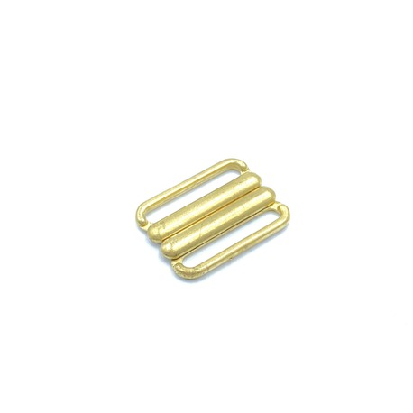 Zapięcie metalowe do strojów kąpielowych w kolorze złotym i otworze 20mm.