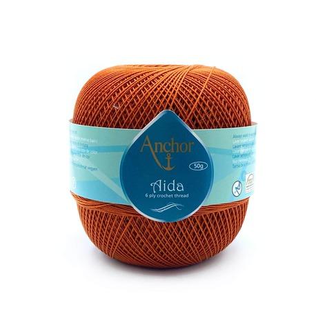 Kordonek do robótek Aida 20, popularna nić bawełniana, z której tworzysz serwetki, obrusy i dekoracje. Kolor rudy.