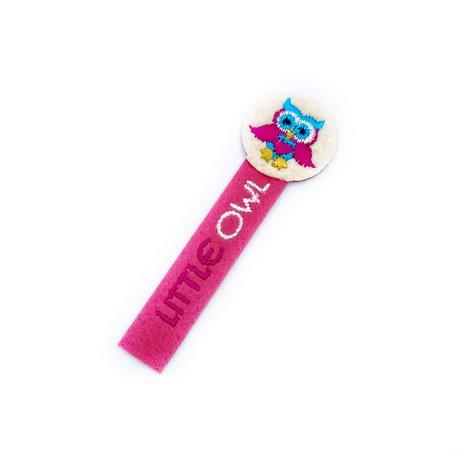 Naszywka termo dla dziewczynki z sową - kolor różowy.