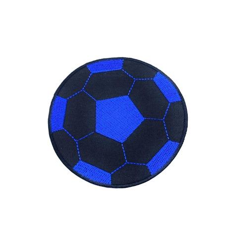 Aplikacja piłkarska - piłka do piłki nożnej do naprasowania na koszulkę lub spodnie. Kolor czarno-niebieski.