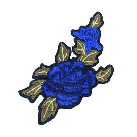Aplikacja termo do naszycia i naprasowania niebieskie róże.