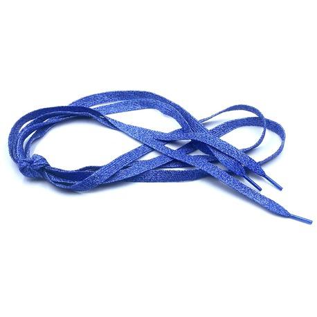Niebieskie sznurówki brokatowe do lekkiego obuwia na wiosnę i lato.