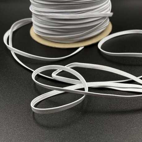 Gumka pleciona do wyrobu bielizny i innych części odzieży - 3mm, kolor biały.