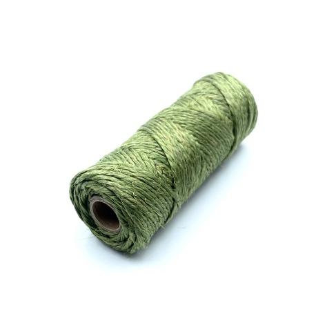 Nabłyszczane nici lniane do rękodzieła w kolorze zielonym. Produkt polski z dobrej jakości lnu.