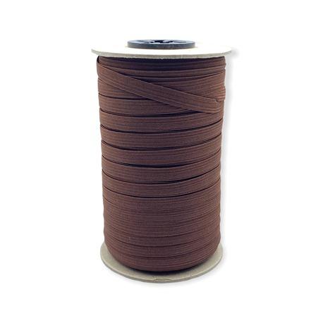 Guma kolorowa płaska w kolorze ciemno brązowym- szerokość 7mm.