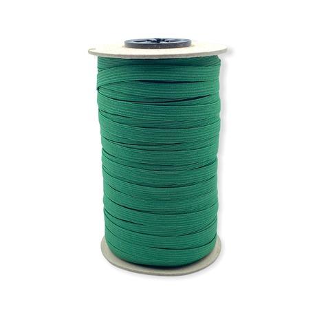 Zielona gumka bieliźniana wykorzystywana w odzieży o szerokości 7mm.