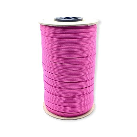 Guma do bielizny, pleciona, mocno rozciągliwa - kolor różowy.