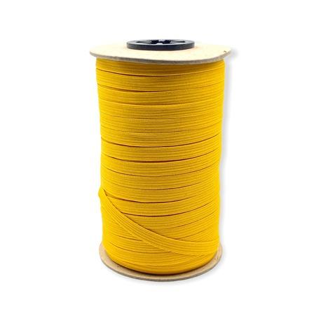 Guma pleciona, obszywkowa w kolorze żółtym, wykorzystywana często w bieliźnie.