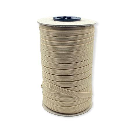 Guma pleciona, obszywkowa w kolorze jasno beżowym, wykorzystywana często w bieliźnie.