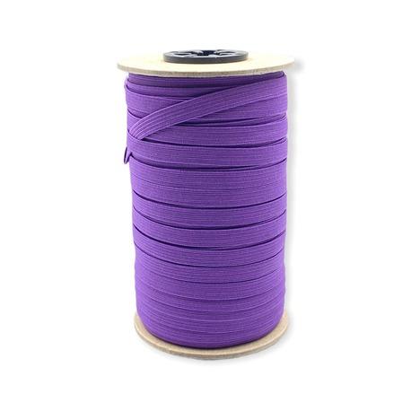 Fioletowa guma pleciona bieliźniana do wielu zastosowań - szerokość 7mm.