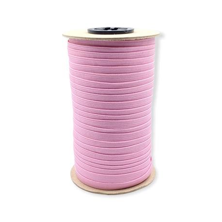 Jasno różowa guma pleciona bieliźniana do wielu zastosowań - szerokość 7mm.