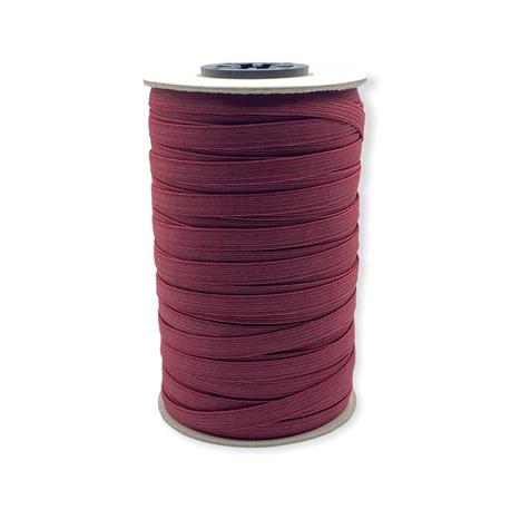 Bordowa guma pleciona bieliźniana do wielu zastosowań - szerokość 7 mm.