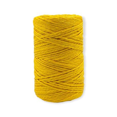 Nici nabłyszczane lniane w kolorze żółtym przeznaczone do rękodzieła.