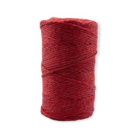 Nici nabłyszczane lniane w kolorze czerwonym przeznaczone do rękodzieła.