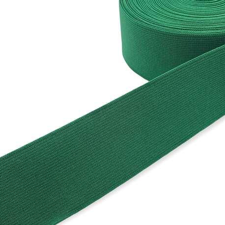 Guma tkana odzieżowa w kolorze zielonym do pasków i toreb.