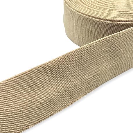 Guma tkana odzieżowa w kolorze beżowym do pasków i toreb.
