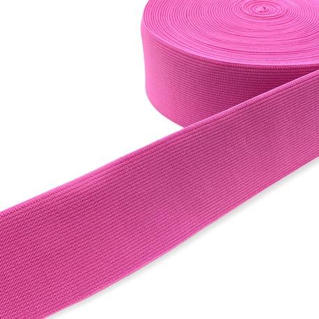Guma tkana odzieżowa w kolorze różowym do pasków i toreb.