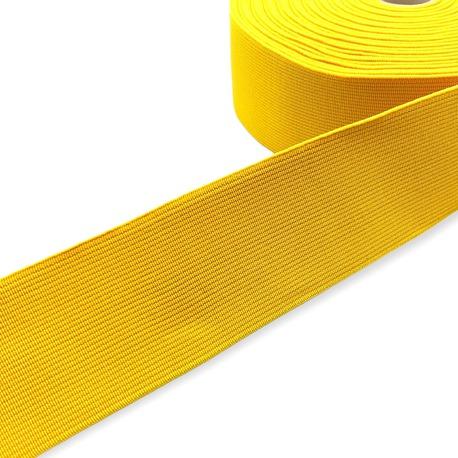 Guma tkana odzieżowa w kolorze żółtym. Mocna, elastyczna guma.