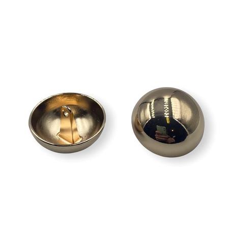 Metalowy guzik ozdobny na stopce w kolorze złotym