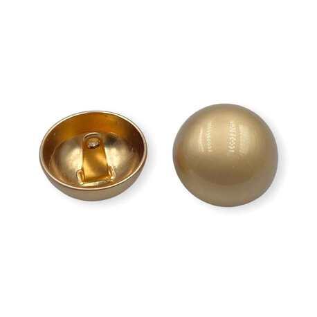 Matowy guzik ozdobny w kolorze złotym do odzieży