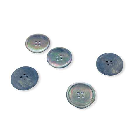 Guzik z masy perłowej ciemny o średnicy 25mm
