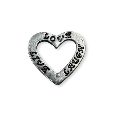 Zawieszka ozdobna metalowa w kształcie serca