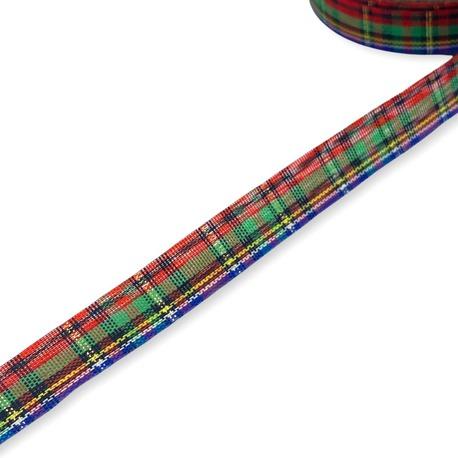 Ozdobna wstążka świąteczna w kratkę 12mm