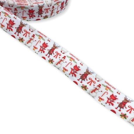 Tasiemka świąteczna z obrazkami o szerokości 2cm