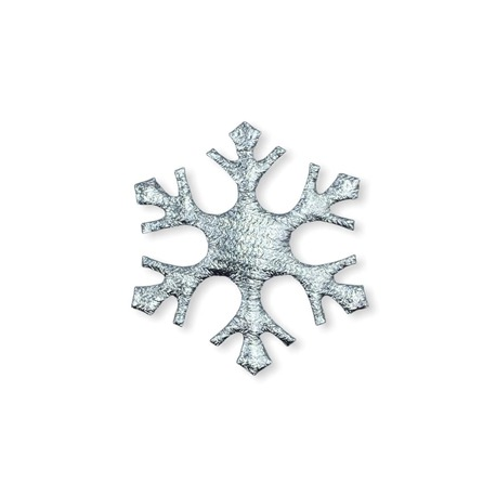 Aplikacja świąteczna srebrna śnieżynka
