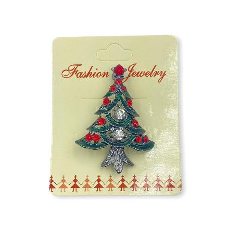 Broszka świąteczna ozdobna choinka